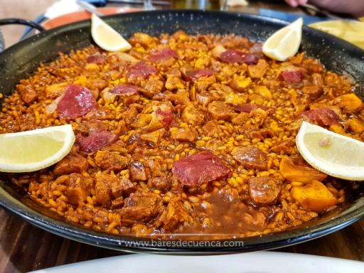 Arroz con boletus, carne y Jamón Ibérico | La Cuadrilla