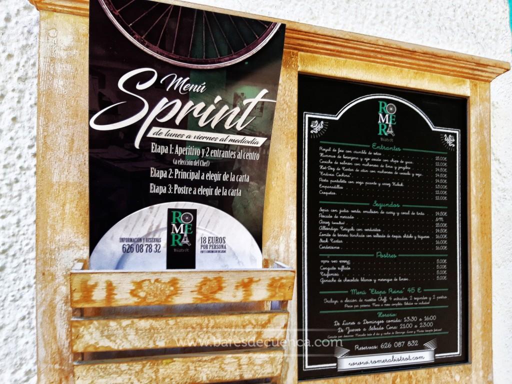 ¿Conoces el menú sprint de Romera&Bistrot?