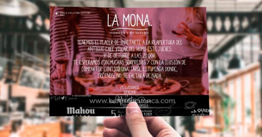 Inauguramos un nuevo bar en Cuenca... La Mona